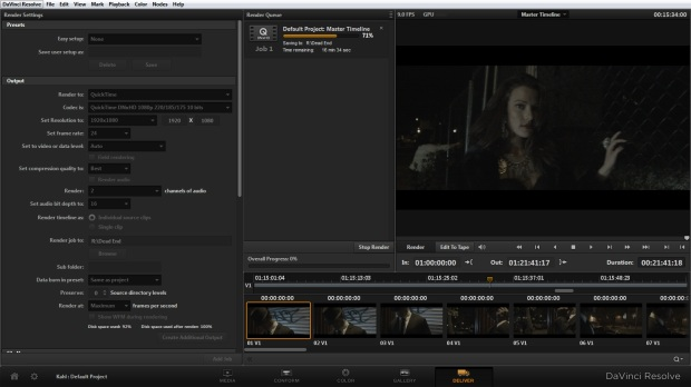 Exporting to DNxHD video files.