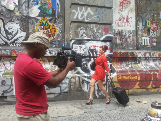Using the action cam setup on Bowery St.